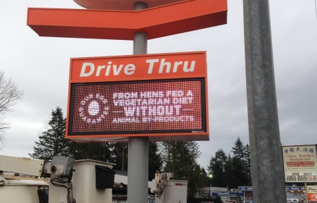 A&W sign installation